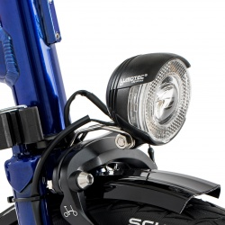 Brompton front dynamo lamp, LED c/w Shimano lead - on bike