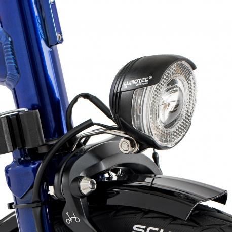 Brompton front dynamo lamp, LED c/w Shimano lead - on bike