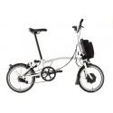 Brompton Electric H6L folding bike - White