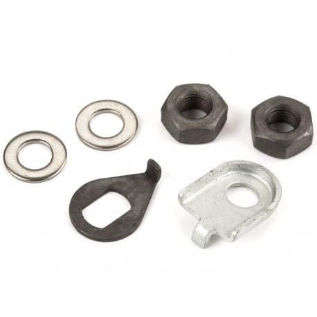 Brompton standard front wheel axle fastenings - nuts and washers