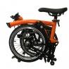 Brompton 2019 BLACK EDITION M6L - Orange/Black Gloss - folded