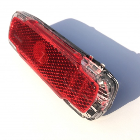 Rear dynamo light / reflector - 2C by busch + müller - upside down to show connectors