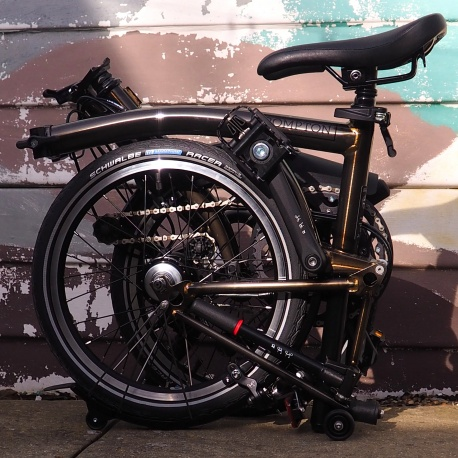 Brompton 2019 BLACK EDITION M6L - Raw Lacquer - folded