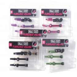 Muc-Off Tubeless Valves - various colours - in packaging