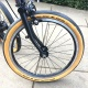 Brompton 2019 CHPT3 Edition front wheel and Schwalbe One tan wall tyre