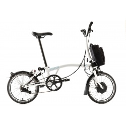 Brompton Electric M6L folding bike - White