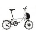 Brompton Electric M6L folding bike - White