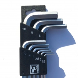 Pedros L-Hex Wrench Set showing the holder