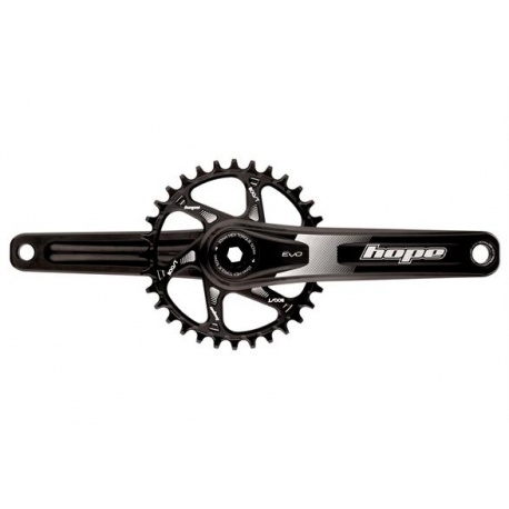 Hope EVO Spiderless Crankset - Please select size and colour