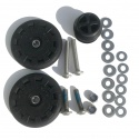 Brompton Eazy Wheels with 6mm screws for rear frame (pair)