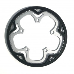 Brompton replacement chain ring / guard 54T spider version front view