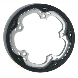 Brompton replacement chain ring / guard for 44T spider chainwheel chain guard view