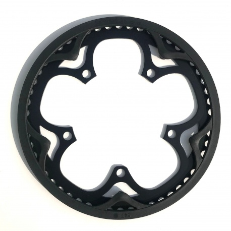 """Brompton BLACK chain ring / guard assembly for 54T """"spider"""" chainwheel"""