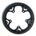 Brompton BLACK chain ring / guard assembly for 54T spider chainwheel