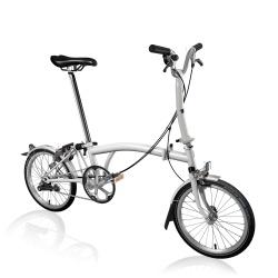 Brompton 2019 M3L - Papyrus White - folding bike