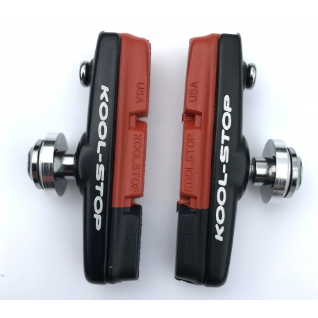 Dura2 dual compound brake pads and holders by Kool-Stop on the weigh scales