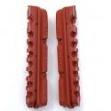 Dura2 salmon compound brake pad inserts by Kool-Stop
