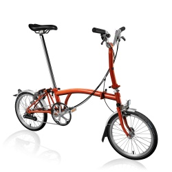Brompton M6L folding bike - Flame Lacquer - 2019 model - generated picture