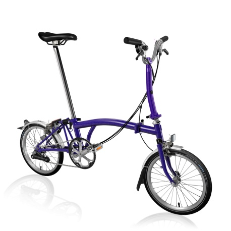 Brompton M6L folding bike - Purple Metallic - 2019 model - computer generated image