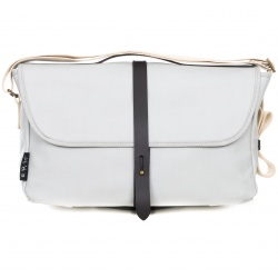 Brompton Shoulder Bag - Grey - stock photo