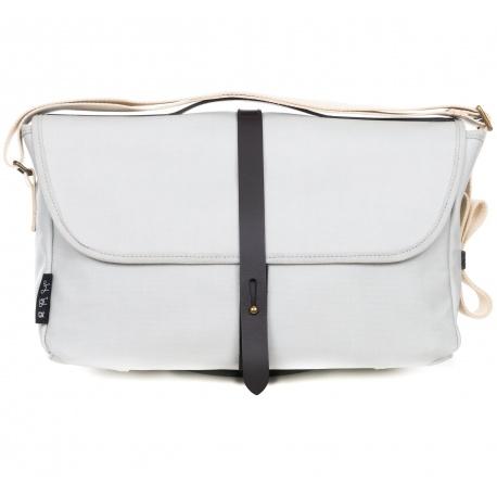 Brompton Shoulder Bag - Grey - stock photo