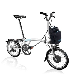 Brompton Electric M2L folding bike - White