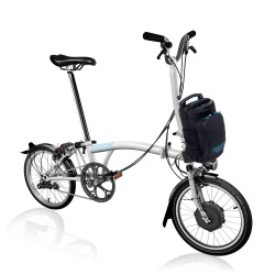 Brompton Electric H2L folding bike - White