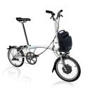 Brompton Electric H2L folding bike - White