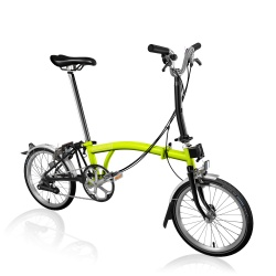 Brompton M6L folding bike - Lime Green / Black - 2019 model