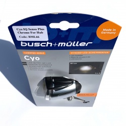 Busch + Muller Cyo IQ Senso Plus 60 Lux dynamo light - chrome - in packaging