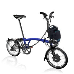 Brompton Electric M6L folding bike - Bolt Blue