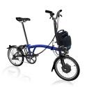 Brompton Electric H6L folding bike - Bolt Blue