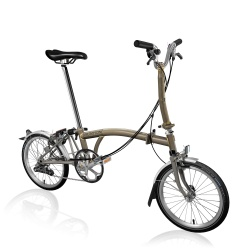 Brompton M6L folding bike - Titanium / Raw Lacquer