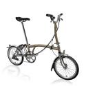 Brompton M6L folding bike - Titanium / Raw Lacquer
