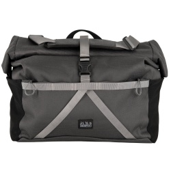 Brompton Borough Roll Top Bag - large size - dark grey colour - stock photo