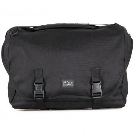 Brompton Metro bag - large - black - stock photo, front view
