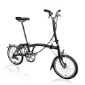 Brompton H6L folding bike - Black - 2020 model