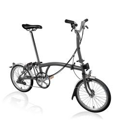 Brompton M6L folding bike - Metallic Graphite - 2020 model - stock generated image