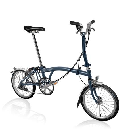 Brompton M6L folding bike - Tempest Blue - 2020 model