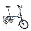 Brompton M6L folding bike - Tempest Blue