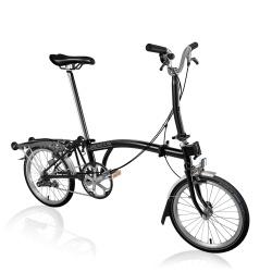 Brompton Black M3R folding bike - 2020 model