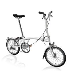 Brompton M1L folding bike - Papyrus White - 2020 model