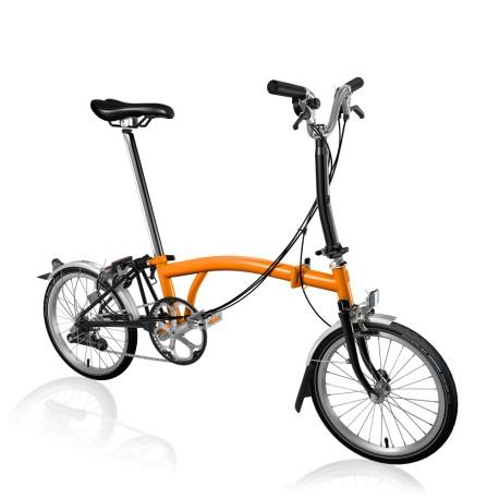 Brompton M6L folding bike - Orange / Black