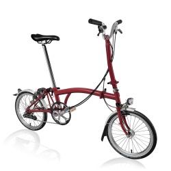 Brompton H6L folding bike - House Red - with hub dynamo