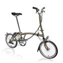Brompton H6L folding bike - Raw Lacquer - with hub dynamo
