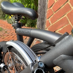 Brompton decal - Metallic Grey - Textured as one a Brompton