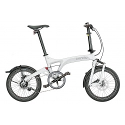Birdy Folding Bike - City - White from Riese and Muller - stock photo