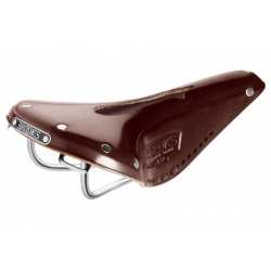 Brooks B17 Narrow Carved Saddle - Brown - stock photo