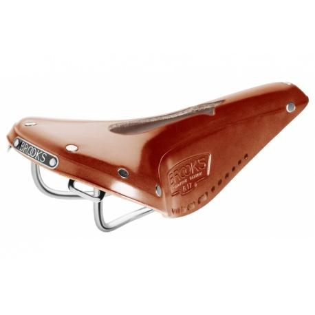 Brooks B17 Narrow Carved Saddle - Honey - stock photo