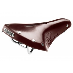 Brooks B17 Carved Short / Ladies Saddle - Brown - Stock photo